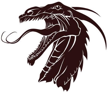 tatouage dragon: mod�les de dragons de tatouage et de conception sur diff�rents sujets  Illustration