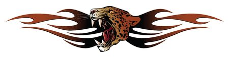 template tattoo: panther head for tribal Stock Vector - 8629749
