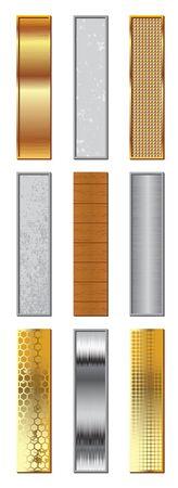 instellen: alfabet gestileerde verschillende natuurlijke materialen en texturen