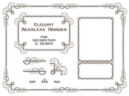 creating: set of plant elements for design, creating borders, frames and backgrounds Illustration