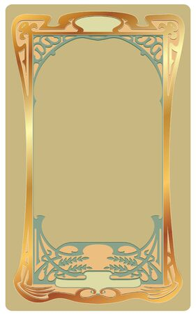 art deco frame: Abstract framework from the bound lines in style art-nouveau  Illustration