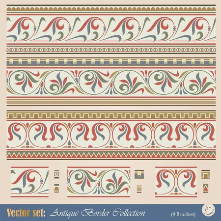 Vector seamless pattern in antique style for decoration and design Vector
