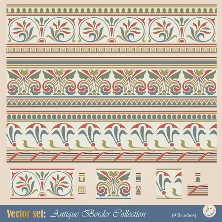 古美術品: アンティーク スタイルの装飾とデザインのためのシームレスなパターン ベクトル  イラスト・ベクター素材