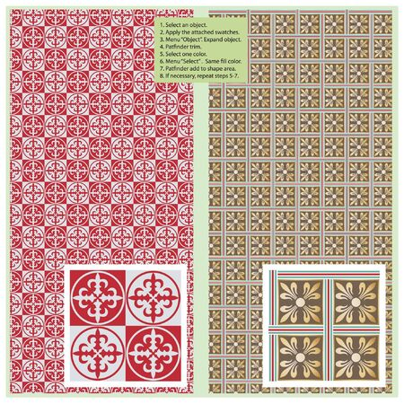 Vector seamless pattern in antique style for decoration and design Stock Vector - 9130236