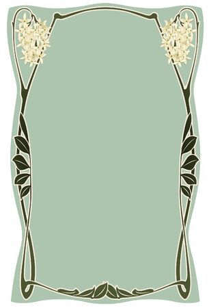 art deco design: Abstract framework from the bound plants in style art-nouveau  Illustration