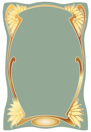 art deco frame: Abstract framework from the bound plants in style art-nouveau  Illustration
