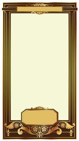 vector frame baroque in antique style Vector