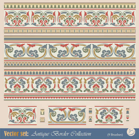 Vector seamless pattern in antique style for decoration and design Stock Vector - 9347580
