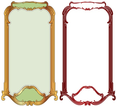 vector frame baroque in gold and antique style Vector