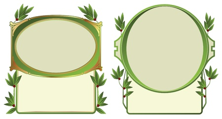 Abstract framework from the bound plants in style art-nouveau  Vector