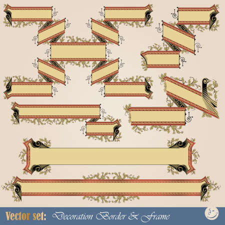 Vector set: Border ribbon for decoration and design Stock Vector - 9450874