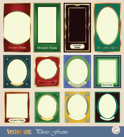 vector template frame pictures for decoration and design of wedding, children and other fun collages Vector