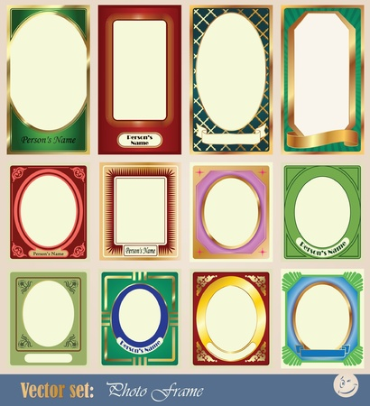vector template frame pictures for decoration and design of wedding, children and other fun collages Stock Vector - 9450872