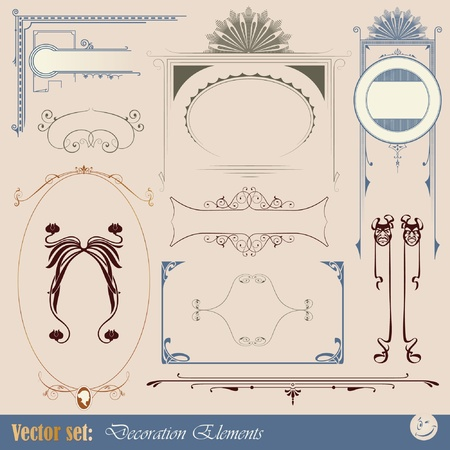 Decorative elements for design of printed materials Vector