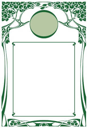 Abstract framework from the bound plants in style art-nouveau  Illustration