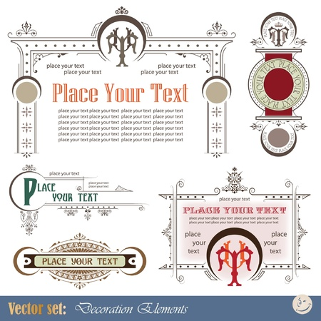 Decorative elements for design of printed materials Stock Vector - 9716229