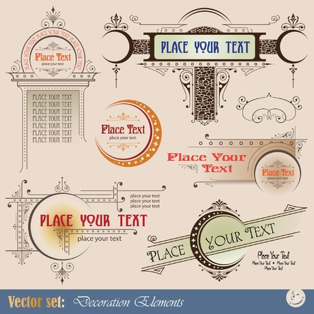Decorative elements for design of printed materials Stock Vector - 9716242