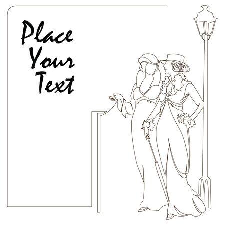 elegant sketch for decoration and design of your work