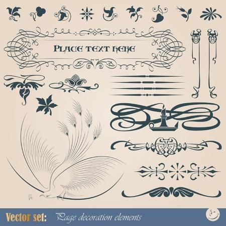 Decoratieve elementen voor het realiseren van gedrukte materialen