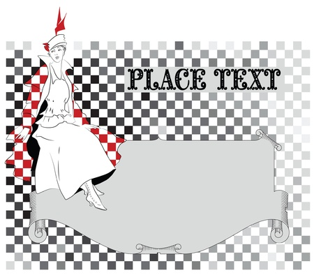 vector elegant sketch for decoration and design of your work Vector