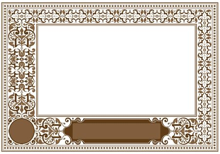 Framework in antique style for decoration and design Stock Vector - 10338474