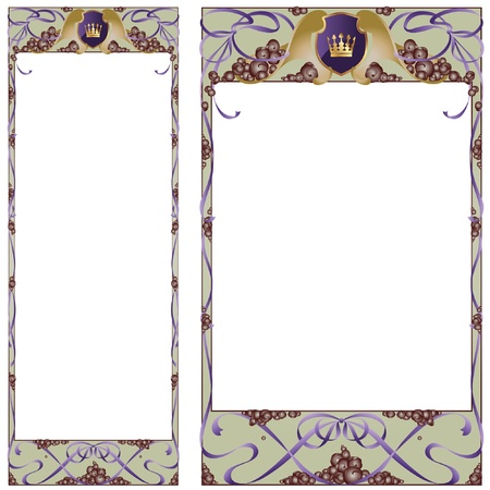 art deco frame: Abstract framework in style art-nouveau