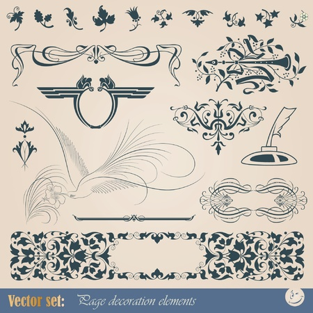 Decorative elements for design of printed materials Imagens - 10338472
