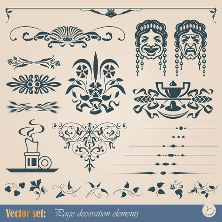 Decorative elements for design of printed materials Imagens - 10470472