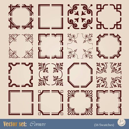corners elements for design and decoration Stock Vector - 10935106