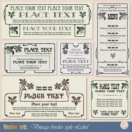 ностальгический: старинные этикетки стиля на различные темы для оформления и дизайна