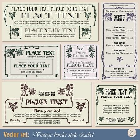 vintage style labels on different topics for decoration and design Imagens - 10935116