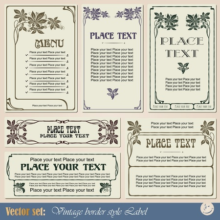 vintage style labels on different topics for decoration and design Imagens - 10935117