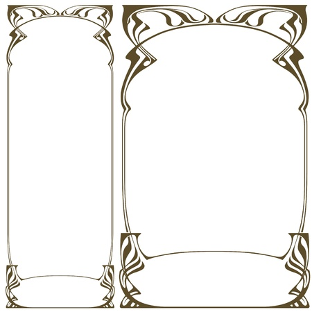 Abstract framework from the bound plants in style art-nouveau  Stock Illustratie
