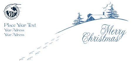 newyears: Vector background or template envelope - Happy Christmas And New-Years