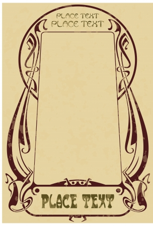 art deco border: abstract framework from the bound lines for decoration and design