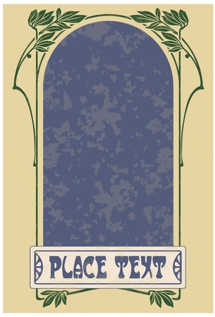 artnouveau: Abstract framework from the bound lines in style art-nouveau  stains can be removed   Illustration