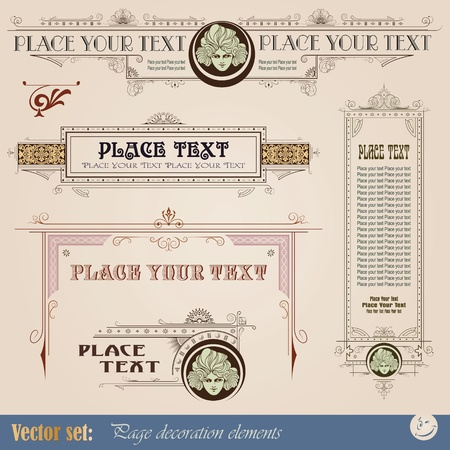 Template for the design of advertisements and other online or printed products  Illustration