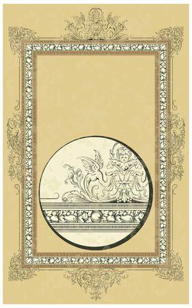 rococo style: Lujo en el marco de vectores estilo rococ�
