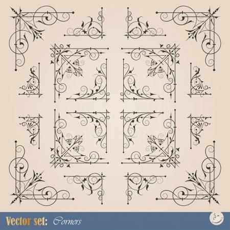 Frame corner elements for decoration and design