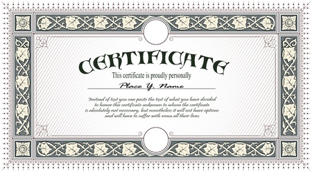 Vintage frame, certificate or diploma template Stock Vector - 13924118
