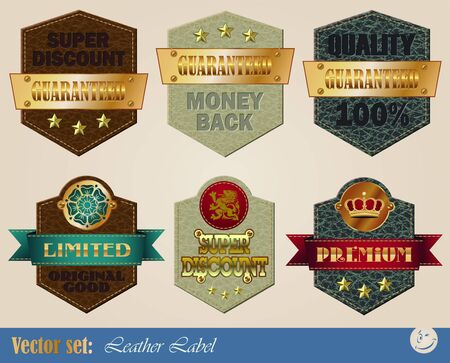gold-framed labels on different topics for decoration and design Stock Illustratie