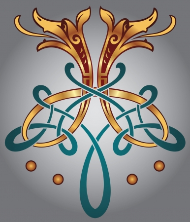 Abstract Celtic design for your artwork and tattoos - zoomorph motifs Vector