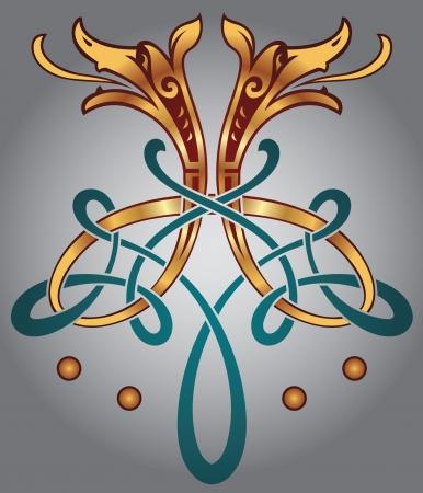 accents: Resumen Celtic dise�o para su obra de arte y tatuajes - motivos zoomorph