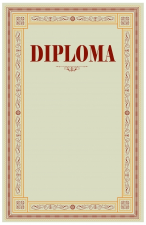 Vintage frame, certificate or diploma template Stock Vector - 15894367