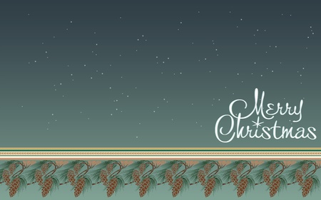 Christmas background with a place to write congratulations  Vector