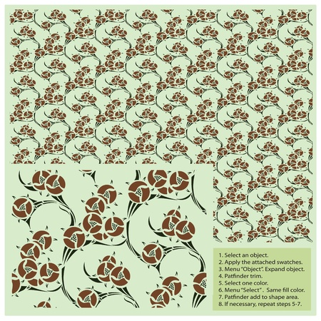 seamless pattern in vintage style for decoration and design Stock Vector - 17186314