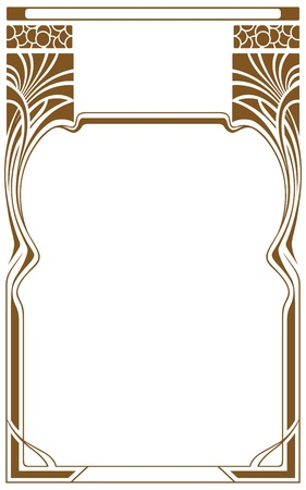 art deco border: Abstract framework from the bound lines in style art-nouveau