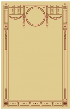 art deco border: Abstract framework in style art-nouveau Illustration