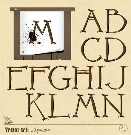 Set of  letters of the English alphabet   background for them Stock Vector - 19243344