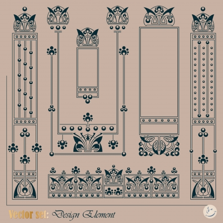 amount: decorative elements for decoration and design